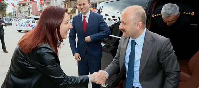 Amasya Valisi  Osman VAROL'dan Zehra ÖZYOL'a ziyaret