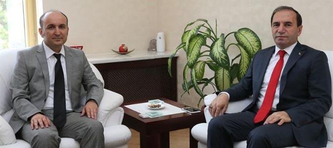 Amasya Valisi Salih Işık'dan Prof. Dr. Metin Orbay'a ziyaret
