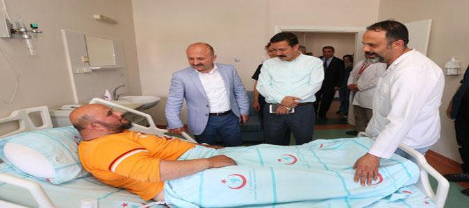 Amasya Valisi Varol'dan Hasta Ziyareti