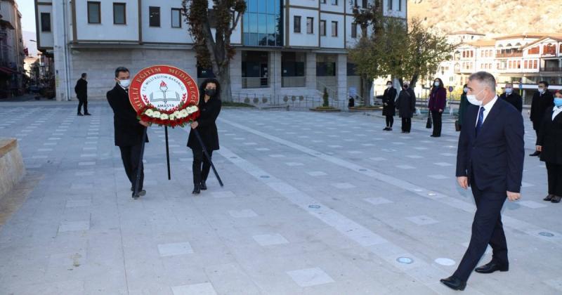 Amasya'da 24 Kasım Öğretmenler Günü Kutlandı