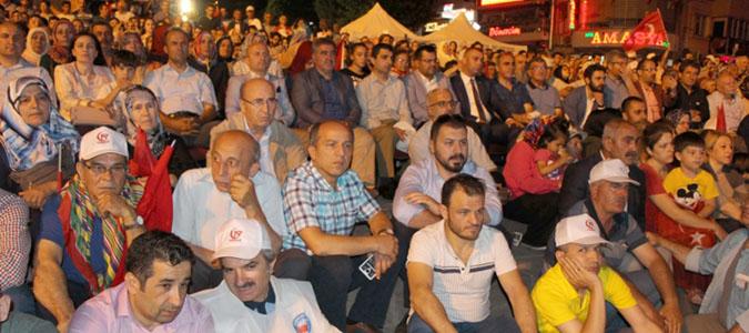 Amasya'da demokrasi nöbeti başladı