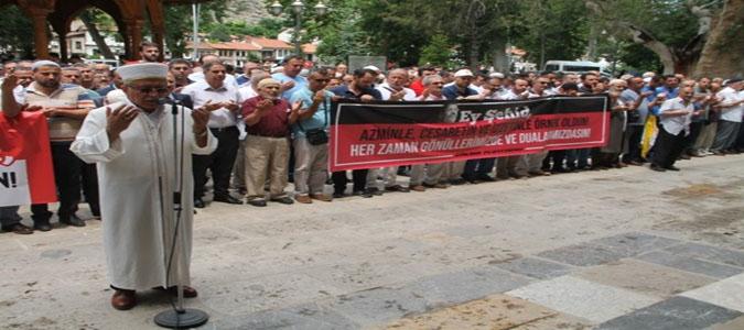 Amasya'da Mursi için Gıyabi Cenaze Namazı Kılındı