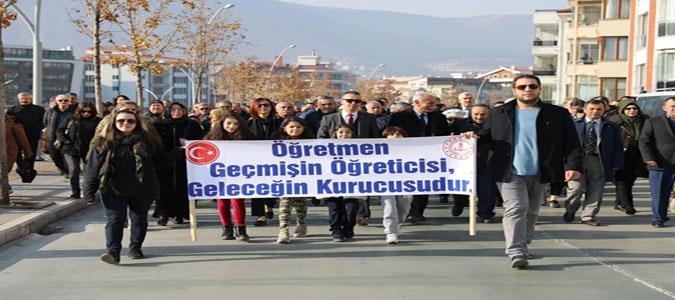 Amasya'da 'Öğretmen Günü Şenlik Yürüyüşü' Gerçekleştirildi