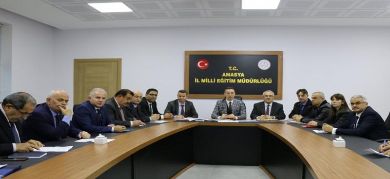 Amasya'da Okul Müdürleri Toplantısı Gerçekleştirildi