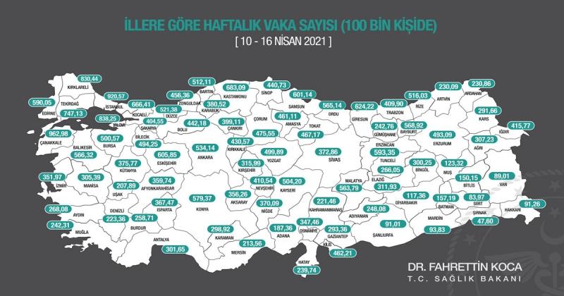 Amasya'da Vaka Artışları Devam Ediyor