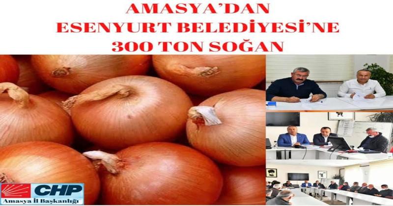 Amasya'dan Esenyurt Belediyesi'ne 300 Ton Soğan