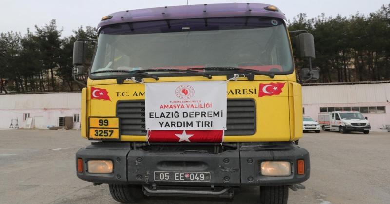 Amasya'dan-Elağız'a 6. Yardım Tırıda Yola Çıktı