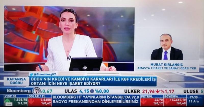 ATSO Başkanı Kırlangıç, Bloomberght Tv Yayınına Katıldı