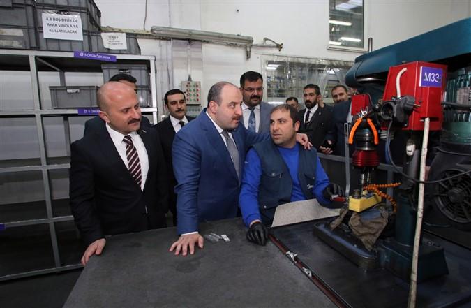 Bakan Varank Merzifon'da Fabrika Ziyaretinde Bulundu