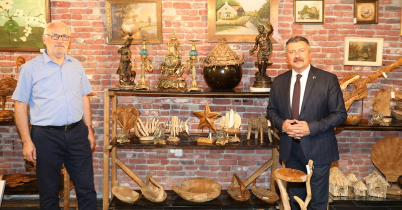 Başkan Kargı, Antik Amesia Dükkanını Ziyaret Etti