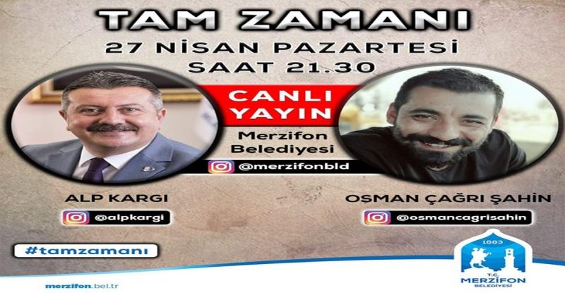 Başkan Kargı, Canlı Yayında Osman Çağrı şahin ile Buluşacak
