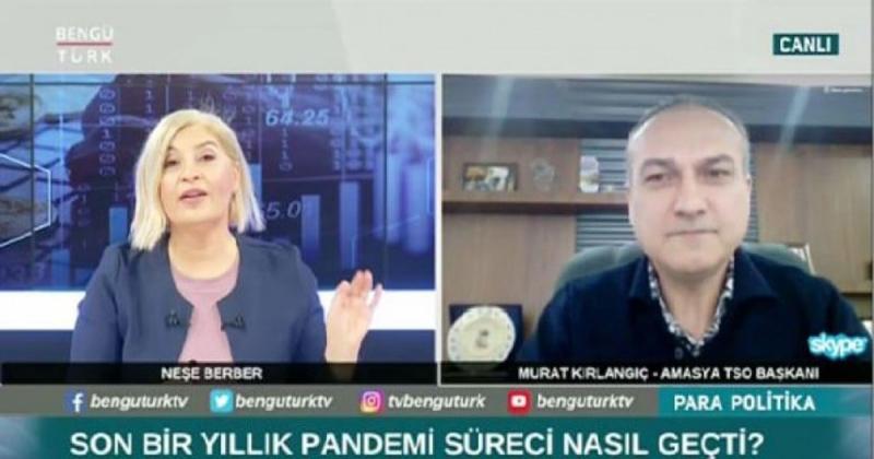 Başkan Kırlangıç, BengüTürk TV'de Canlı Yayın Konuğu Oldu