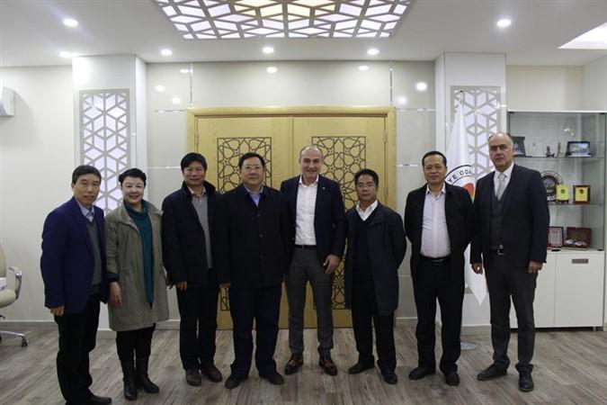 Başkan Murat Kırlangıç'a Çin 'JİANGXİ' heyetinden ziyaret