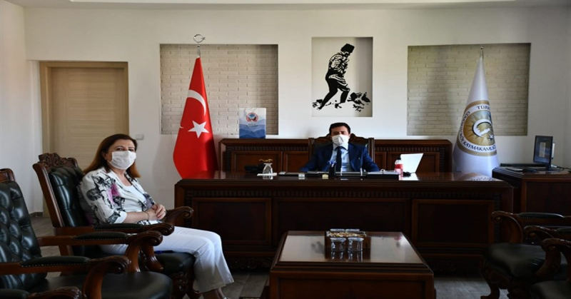 Başkan Özyol'dan, Kaymakam Fırat'a Ziyaret