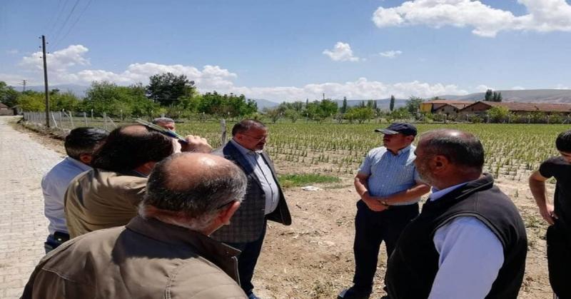 CHP Amasya Milletvekili Tuncer, Suluova'da Doludan Zarar Gören Köylüleri Ziyaret Etti