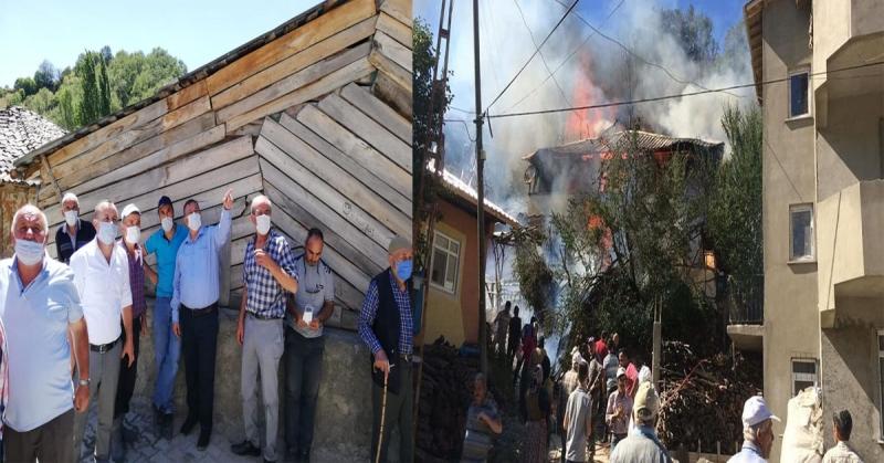 CHP Amasya Teşkilatı'dan Yangın Mağdurlarına 'Geçmiş Olsun' Ziyareti