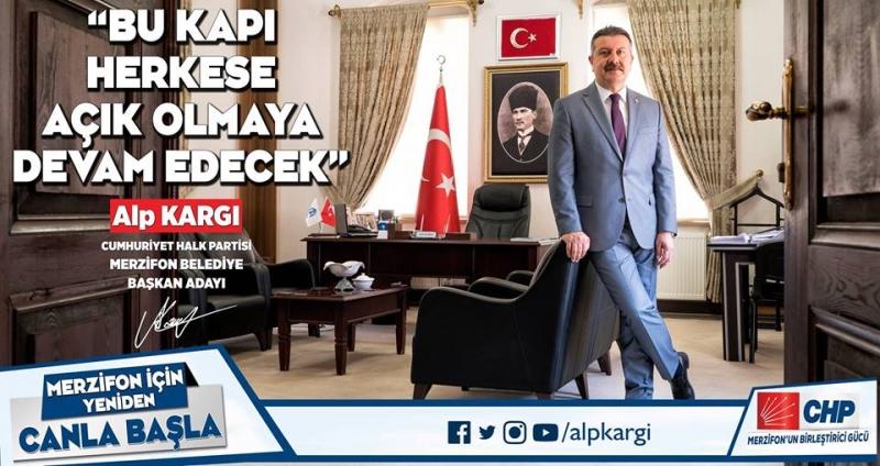 CHP , Merzifon'da Belediye Başkanı adayı Alp KARGI