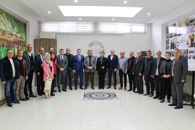 CHP ve İYİ Parti Heyetinden TSO'ya Ziyaret