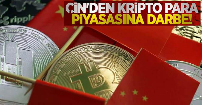 Çin'den kripto para piyasasına darbe!