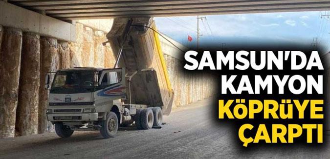 Damperi Açık Unutulan Kamyon Köprüye Çarptı 2 Yaralı