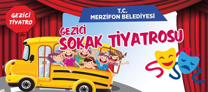 Gezici Sokak Tiyatrosu Merzifon'da Çocuklar ile  Buluşuyor