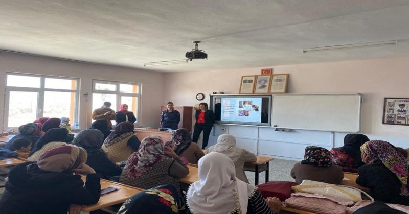 Göynücek'de 'Kadına Yönelik Şiddetle Mücadele' Konulu Bilgilendirme Toplantıları Gerçekleştirildi