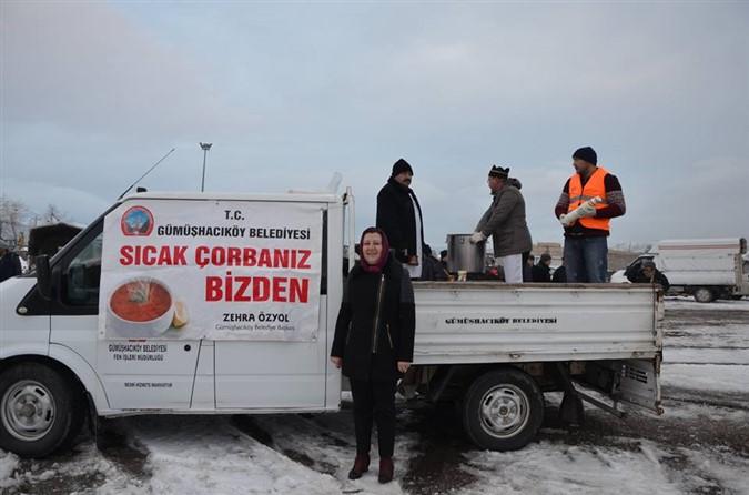 Gümüşhacıköy Belediyesinden 'Sıcak Çorbanız Bizden' Projesi