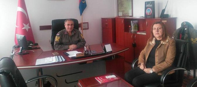 Gümüşhacıköy Belediye Başkanı Zehra ÖZYOL  'danAziz Bektaş KAYMAK'a ziyaret