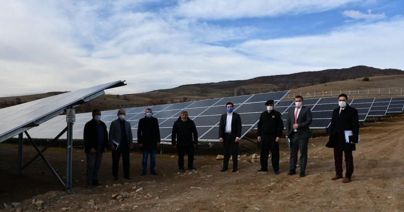 Gümüşhacıköy Doluca Köyünde 800 Kilowatt GES Kuruldu
