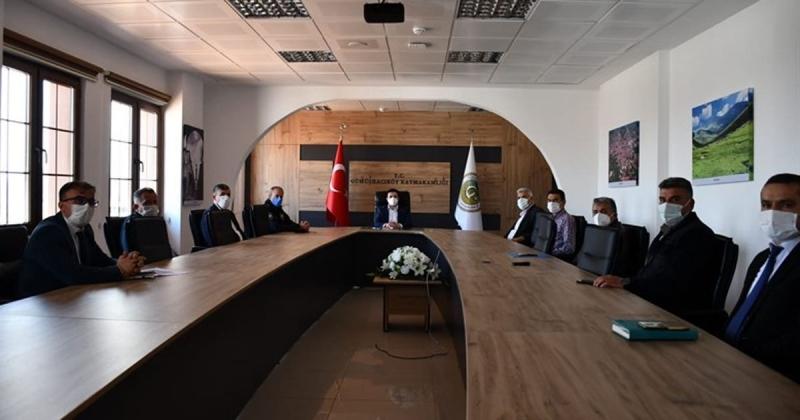 Gümüşhacıköy Nisan Ayı Güvenlik Ve Muhtarlar Toplantısı Gerçekleştirildi