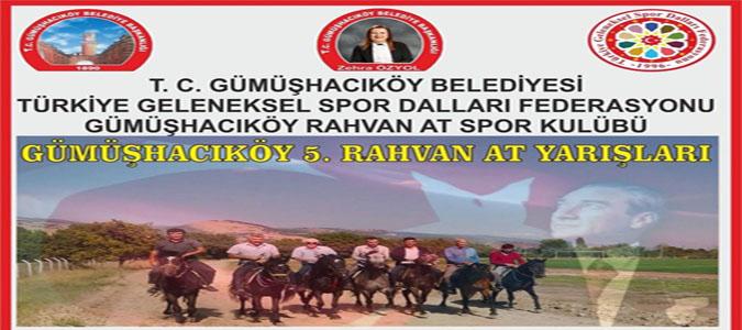 Gümüşhacıköy'de 5. Rahvan At Yarışları Düzenleniyor