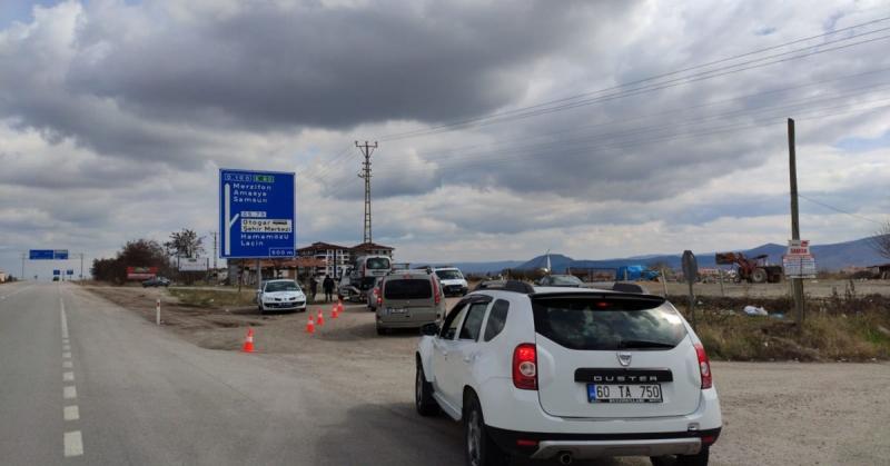 Gümüşhacıköy'de Trafik Denetimleri Devam Ediyor