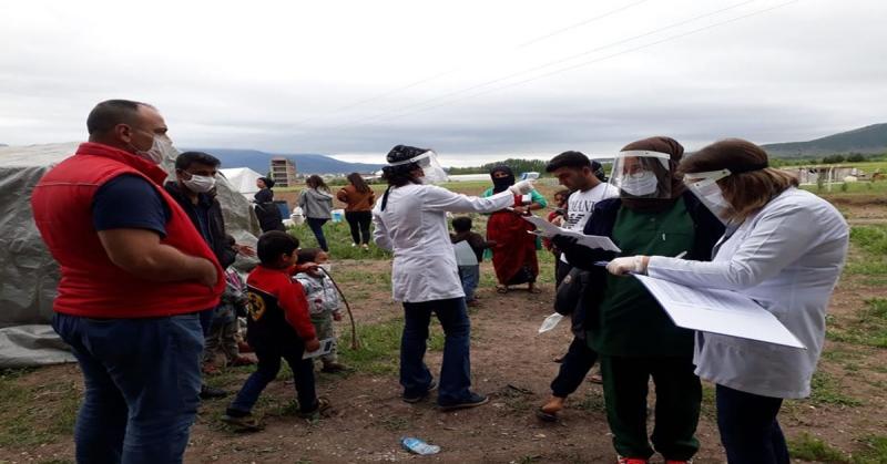 Gümüşhacıköy'deki Mevsimlik İşçilere Sağlık Kontrolü