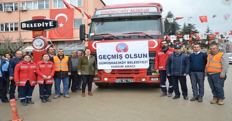 Gümüşhacıköy'den Elazığ Deprem Bölgesine Yardım