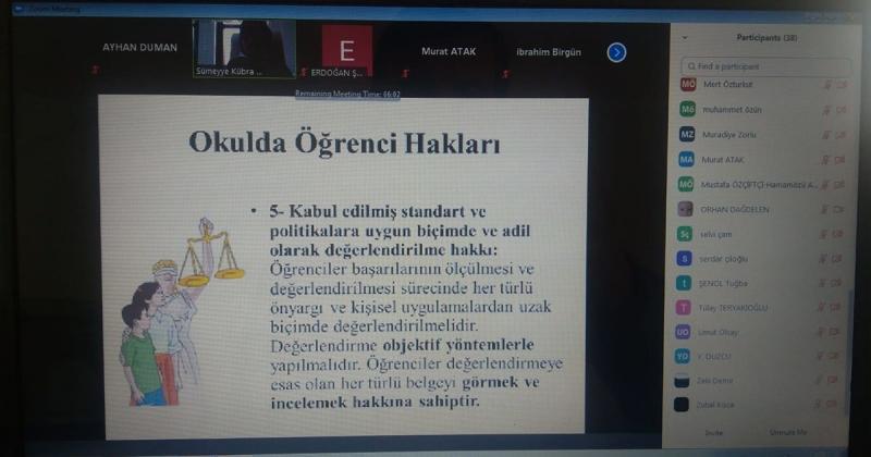 Hamamözü'nde Çocuk Hakları ve Çocuk İhmal/İstismarına Yönelik Online Eğitim Gerçekleştirildi