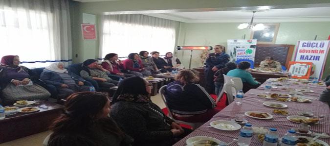 İl Jandarma Komutanlığı Kadına Yönelik Şiddete Karşı Bilgilendirme Semineri Düzenledi