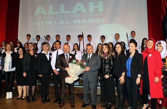 İstiklal Marşının Kabulünün 98. Yıl Dönümü Kutlama Programı Düzenlendi