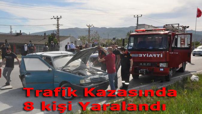 Kazada 8 kişi yaralandı.