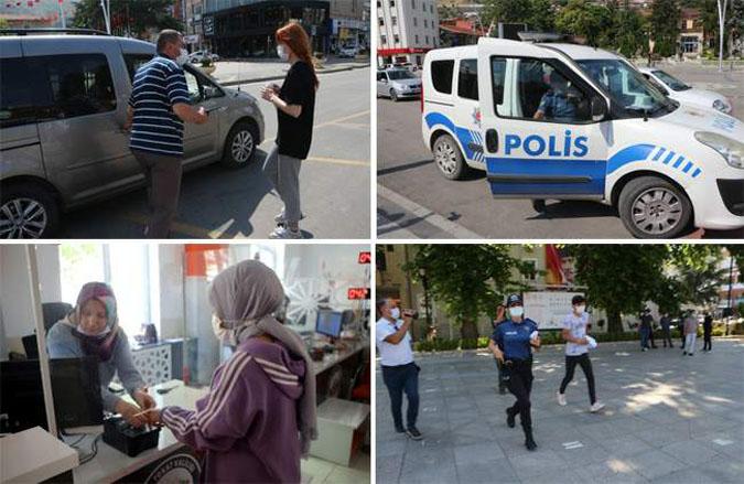 Kimliklerini Unutan Adayların Yardımına Polis Yetişti