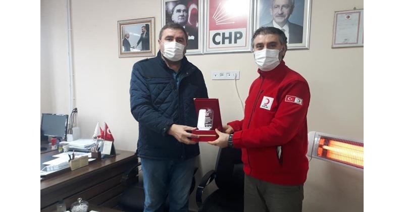 Kızılay'dan CHP'ye Ziyaret