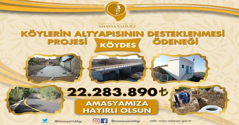 KÖYDES Kapsamında 2020 Yılı Yatırımları İçin 22.383.890 Türk Lirası Ödenek Tahsis Edildi
