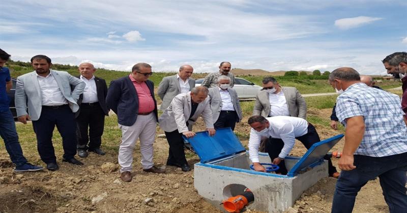 Kutlu Göleti' nin Sulama Sistemi Hizmete Açıldı