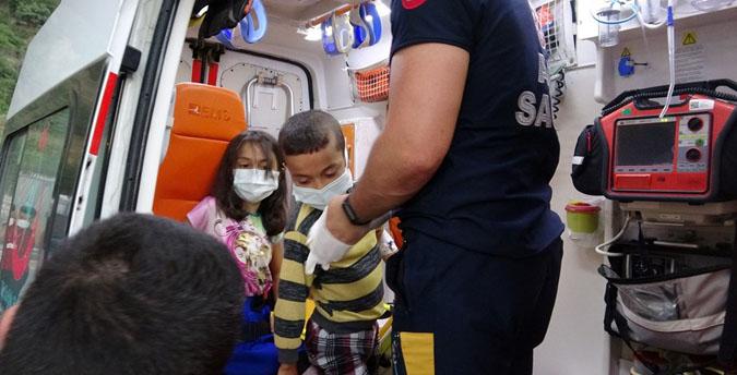 Lavabo Açıcı Yiyen 5 Çocuk Hastanelik Oldu