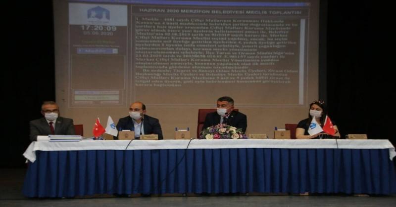 Merzifon Belediyesi Olağanüstü Belediye Meclis Toplantısı Yapıldı