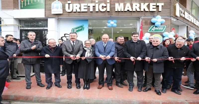 Merzifon Belediyesi'ne Ait Üretici Market Açıldı