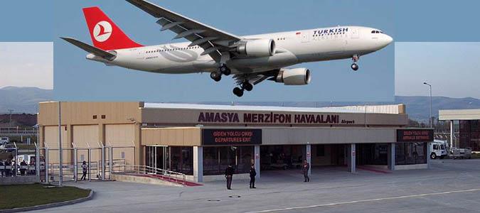 Merzifon Havaalanı Nisan Ayında 12 Bin 927 yolcuya hizmet verdi