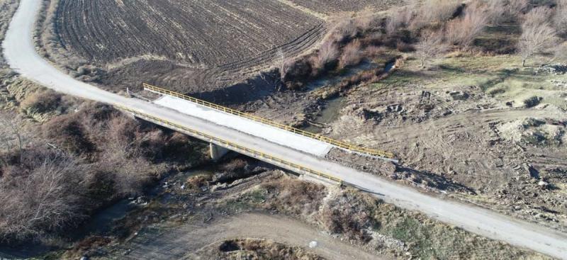 Merzifon Yalnız Köyü Yolu Üzerindeki Köprü Genişletme İnşaatı Çalışması Tamamlandı