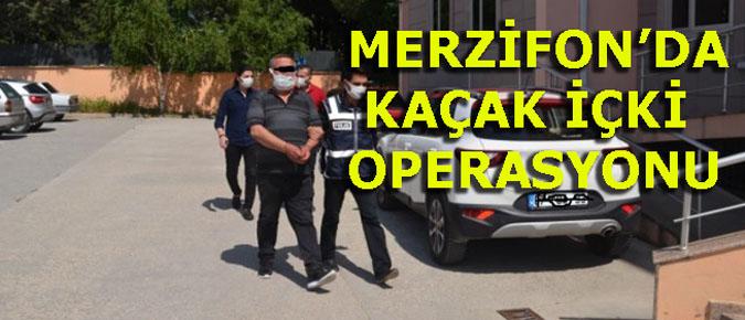 MERZİFON'DA KAÇAK İÇKİ OPERASYONU