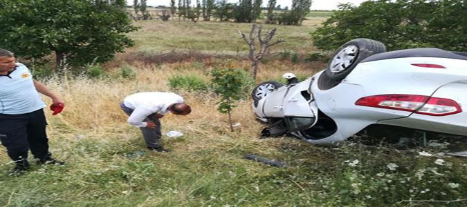 Merzifon'da Trafik Kazası