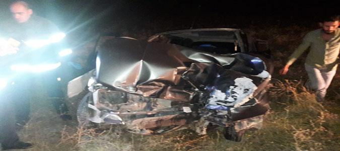 Merzifon'da Trafik Kazası:2 Yaralı